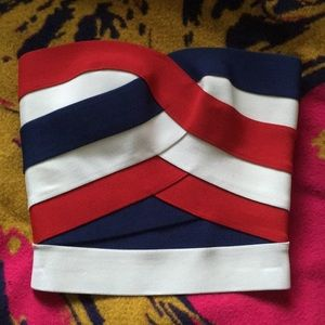 New bandage tube top 4th of July American Flag S
